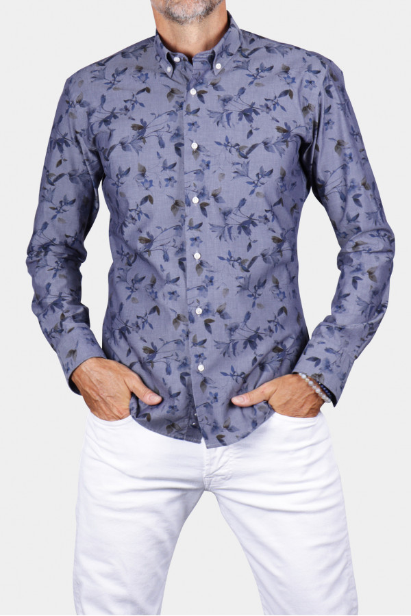 Printed shirt with floral...
