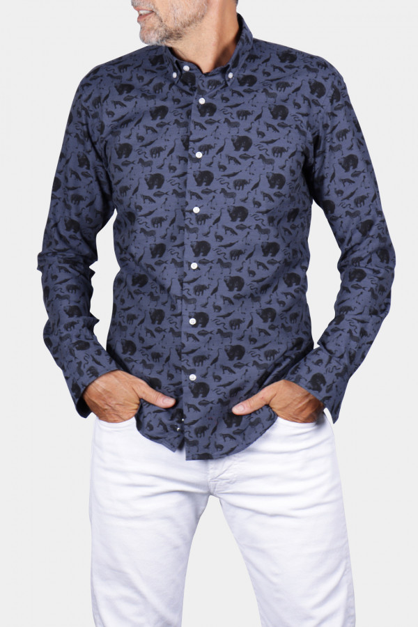 """Animal"" patterned shirt"