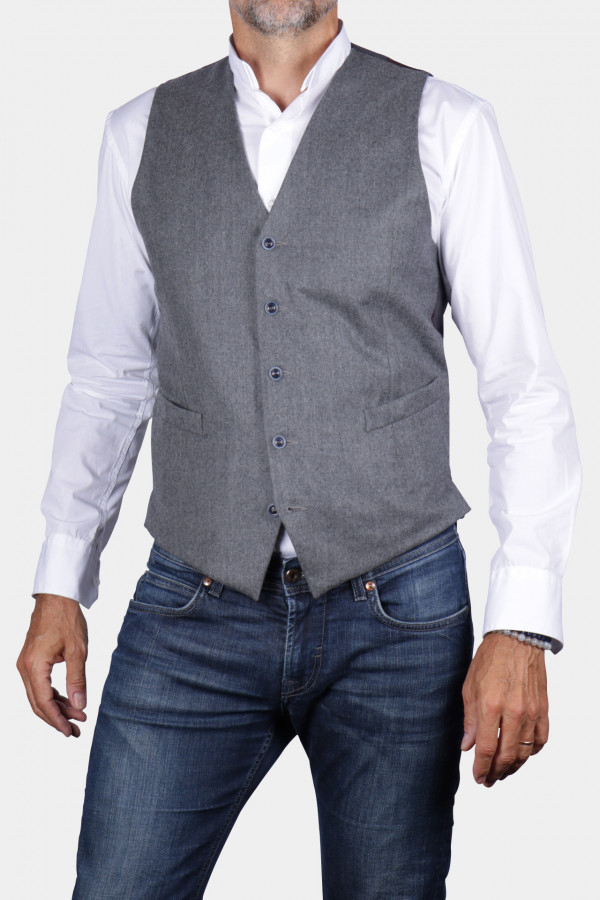 Flannel waistcoat with...