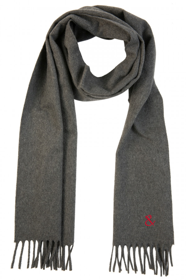 Plain anthracite cashmere...