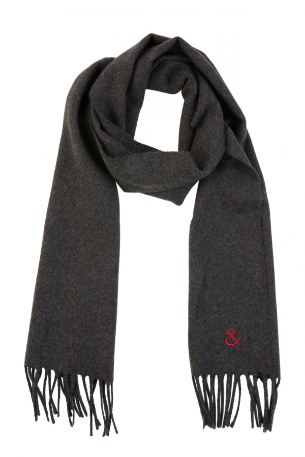 Anthracite wool scarf