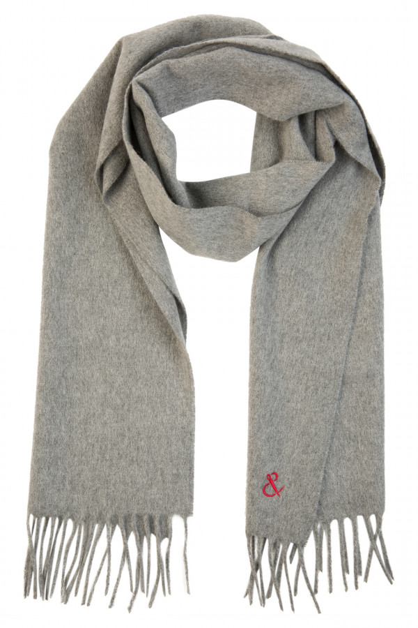 Plain light cashmere scarf